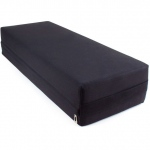 Large 26-inch Black Yoga Bolster and Meditation Pillow