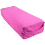 Large 26-inch Pink Yoga Bolster and Meditation Pillow