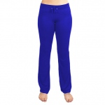 Small Blue Relaxed Fit Yoga Pants