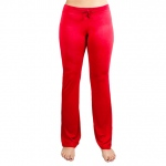 X-Large Red Relaxed Fit Yoga Pants