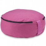 "Pink 15"" Round Zafu Meditation Cushion"