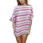 Women's Sleek and Chic Stripped Beach Poncho