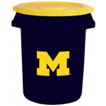 Wild Sports Michigan Wolverines Bruteô Trash Can by Rubbermaid: 32 Gallon
