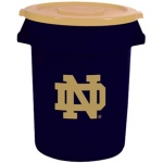Wild Sports Notre Dame Fighting Irish Bruteô Trash Can by Rubbermaid: 32 Gallon