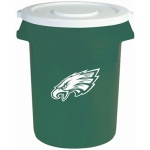 Wild Sports Philadelphia Eagles Bruteô Trash Can by Rubbermaid: 32 Gallon