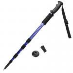 "53"" Blue Shock-Resistant Adjustable Trekking Pole"