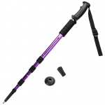 "53"" Purple Shock-Resistant Adjustable Trekking Pole"
