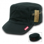 Rapid Dominance 35A Military Fatique Cap with Zipper: Black