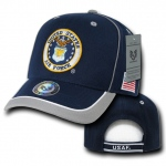 Rapid Dominance S012 Piped Military Caps: Navy / Grey, Air Force