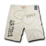 Rapid Dominance R56 Military Applique Fleece Shorts: Cream, Air Force