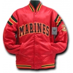 Rapid Dominance R12 Satin Military Coach's Jacket: Red, Marines, 2XL
