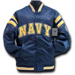 Rapid Dominance R12 Satin Military Coach's Jacket: Navy, Navy