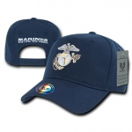 Rapid Dominance S013 Snapback Metallic Embroidery Caps: Navy, Marines