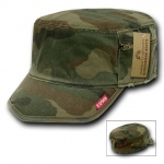 Rapid Dominance 35A Military Fatique Cap with Zipper: Woodland