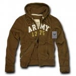 Rapid Dominance R44 Waffle Lined Military Fleece Hoodie: Brown, Army