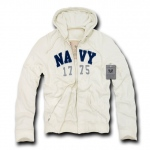 Rapid Dominance R44 Waffle Lined Military Fleece Hoodie: Cream, Navy
