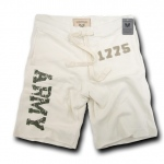 Rapid Dominance R56 Military Applique Fleece Shorts: Cream, Army