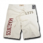 Rapid Dominance R56 Military Applique Fleece Shorts: Cream, Marines