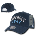 Rapid Dominance S80 Vintage Athletic Military Caps: Navy, Air Force