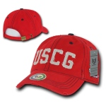 Rapid Dominance S84 Southern Cal Vintage Cotton Twill Military Cap: Red, Coast Guard
