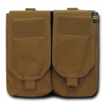 Rapid Dominance Double Ar Mag Pouch W/ Cover: Coyote