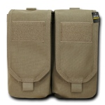 Rapid Dominance Double Ar Mag Pouch W/ Cover: Khaki