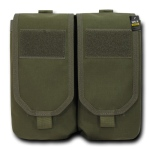Rapid Dominance Double Ar Mag Pouch W/ Cover: Olive Drab