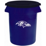 Wild Sports Baltimore Ravens Bruteô Trash Can by Rubbermaid: 32 Gallon